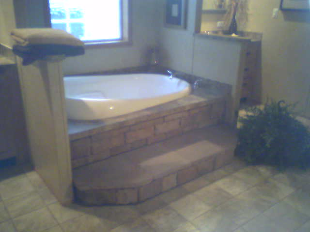 STONE TUB STEP SET