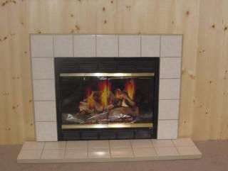 Marmol Frost Surround With Tile Hearth