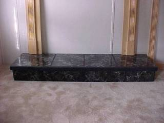 Black Marble Raised Platform
