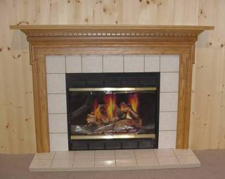 White Tile Insert With Hearth