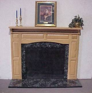 Black Marble Insert With Tile Hearth