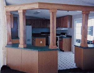Honey Oak Columns