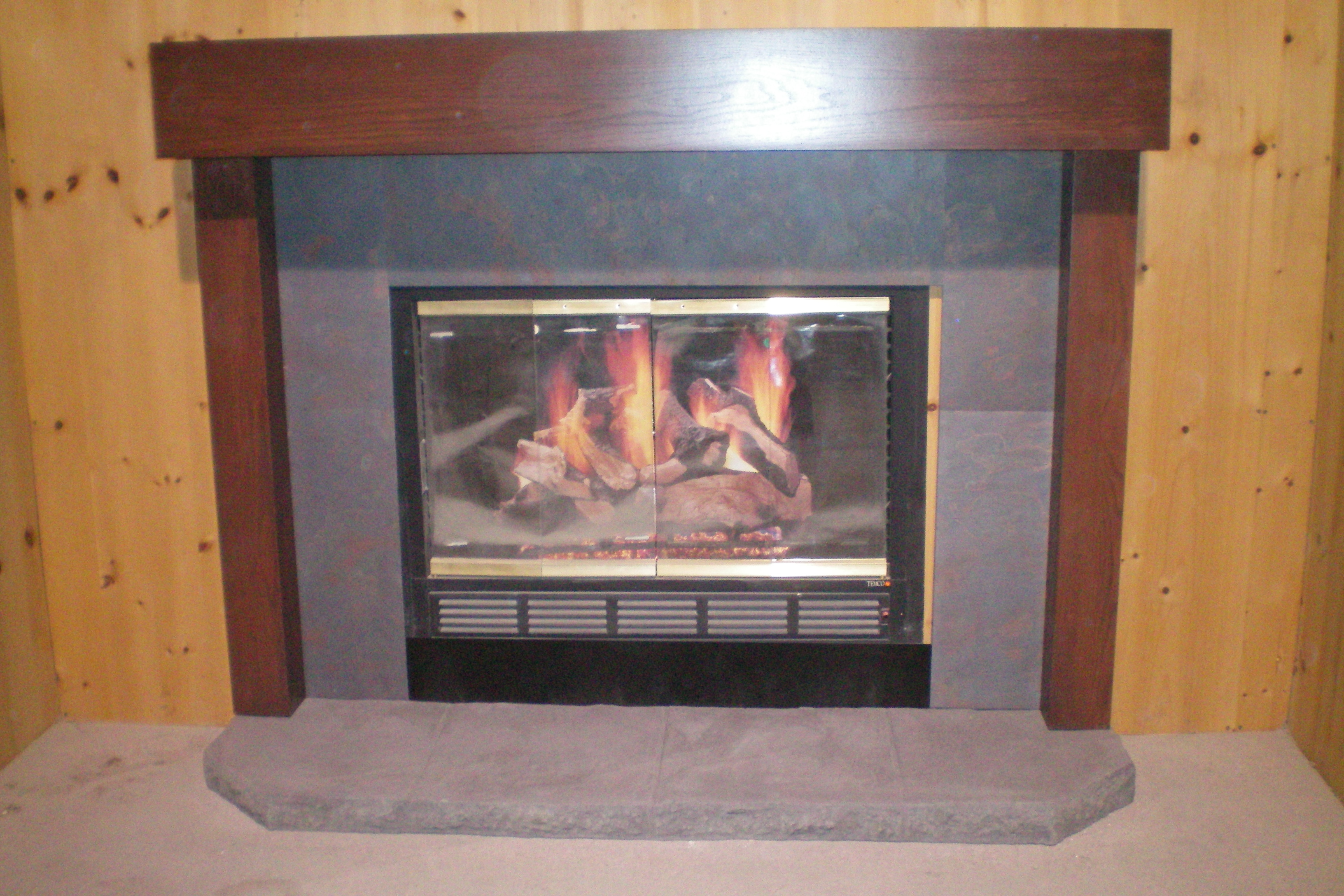 Alabaster Surround With Raised Hearth